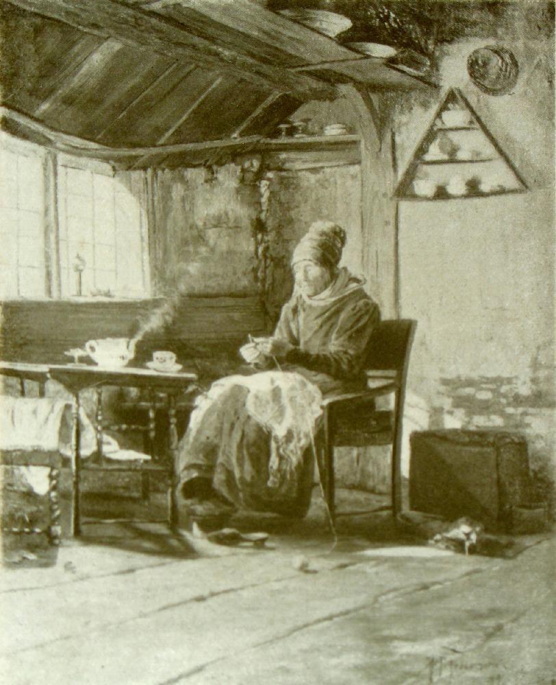 friesische frau am kaffeetisch 1877 beschreibung alte frau in langem rock und hoher haube. Black Bedroom Furniture Sets. Home Design Ideas