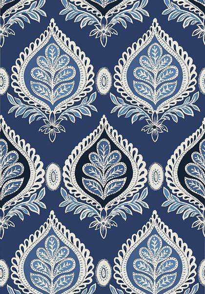 Fabric for Drapery panels - MIDLAND, Navy, T24314, Collection ...