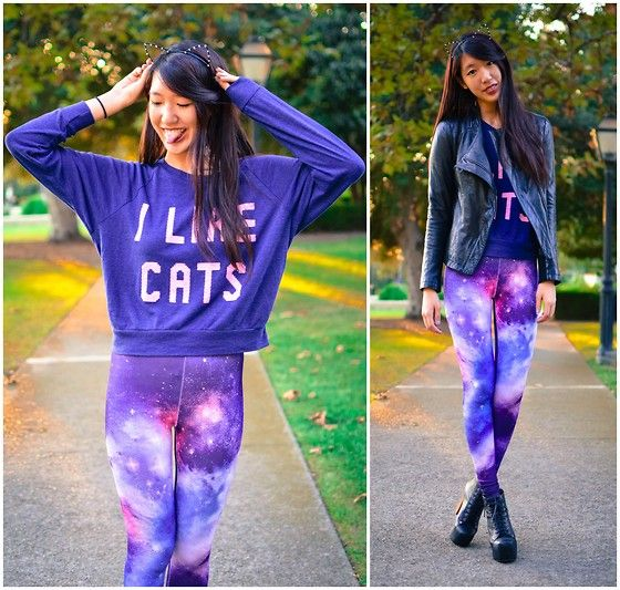 Cat Lady (by Stephanie Huang) http://lookbook.nu/look/4132938-Cat-Lady