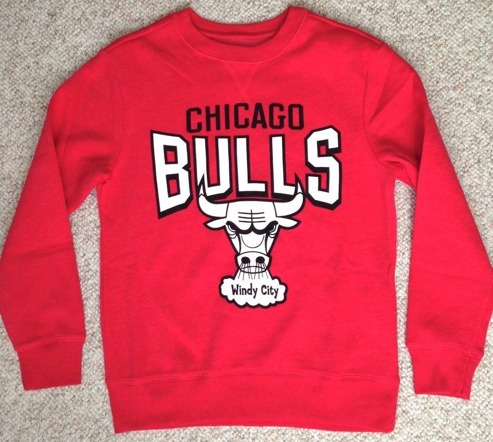 Youth Boy Girl Small(Size 6-7) CHICAGO BULLS WINDY CITY CREW Crewneck  Sweatshirt  NBA  ChicagoBulls a4d9a98a87f8