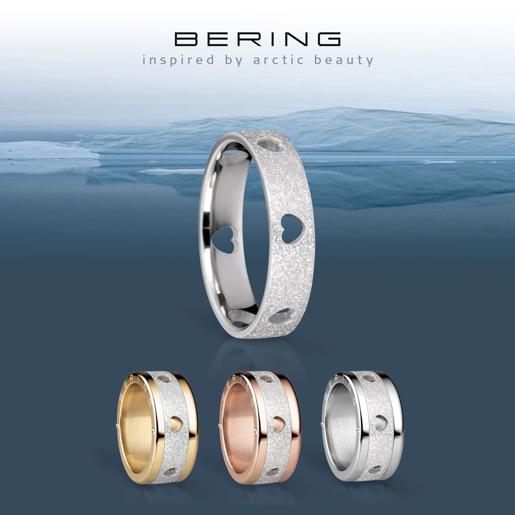 Arctic Symphony Collection; Women's ring; BERING jewellery; Twist & Change system