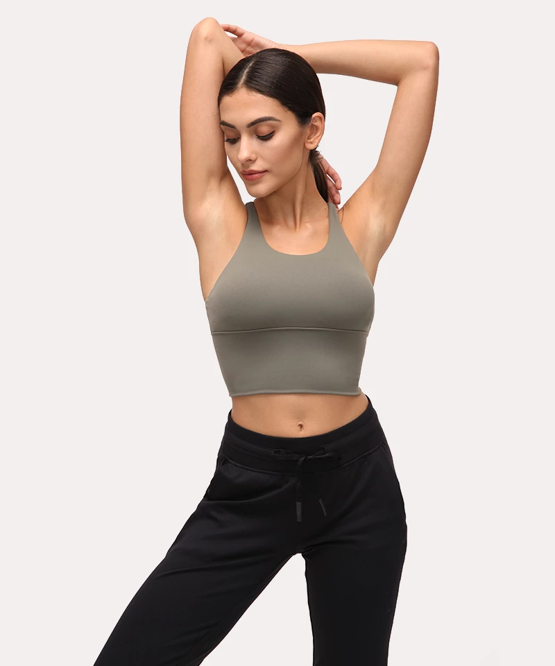 13 color Women Casual Comfort Solid Crop Top Stretch Seamless Bra Yoga//sprot Bra