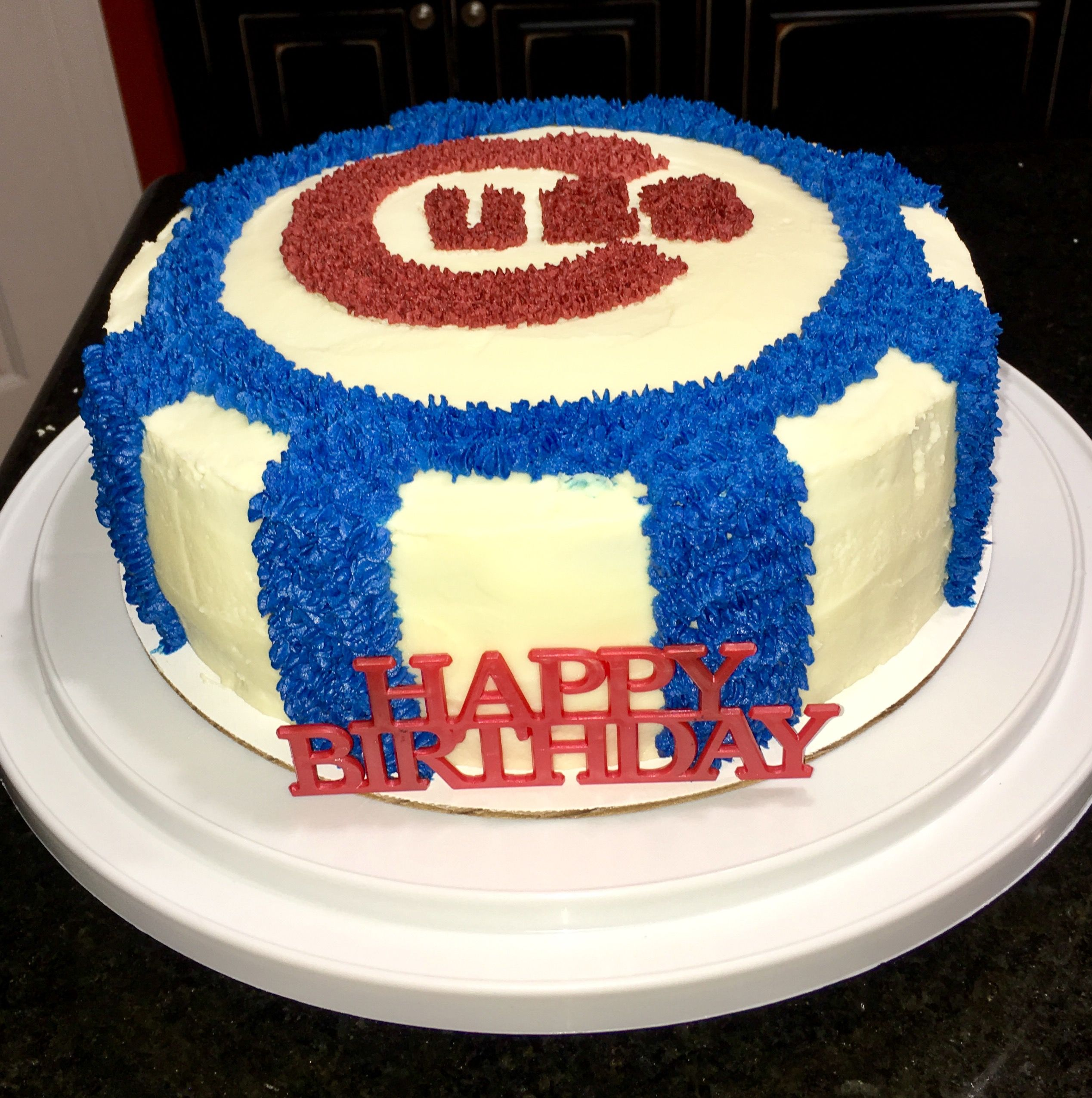 Simple Chicago Cubs Birthday Cake My Own Creations Pinterest