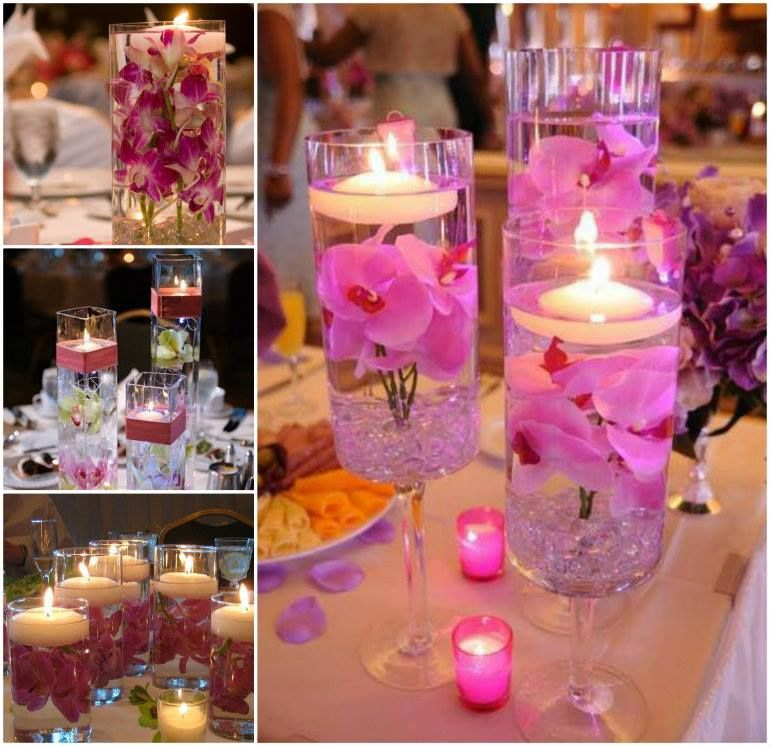 16 Stunning Floating Wedding Centerpiece Ideas: Centerpieces With Orchids And Floating Candles Video Tutorial
