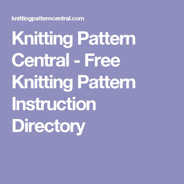 Knitting Pattern Central Free Knitting Pattern Instruction