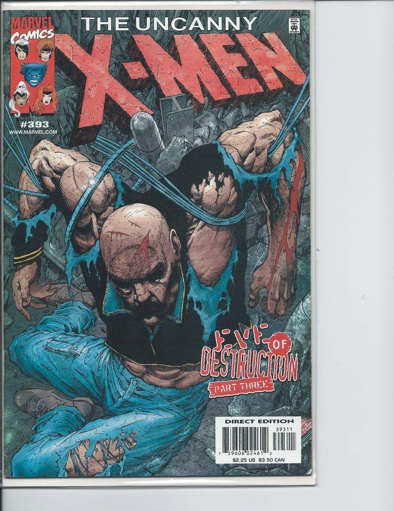 Marvel Uncanny X Men 393 Eve Of Destruction Part 3 Vf Marvel Comics For Sale X Men