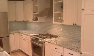 2x12 Subway Tiles With Busy Granite