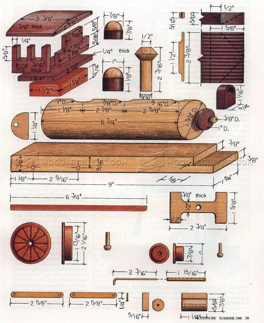 1385 wooden locomotive plans - children's wooden toy plans