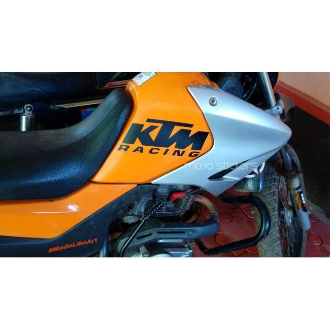 KTM Racing Logo Stickers For All Bikes Car And Bike Stickers - Custom motorcycle stickers racing
