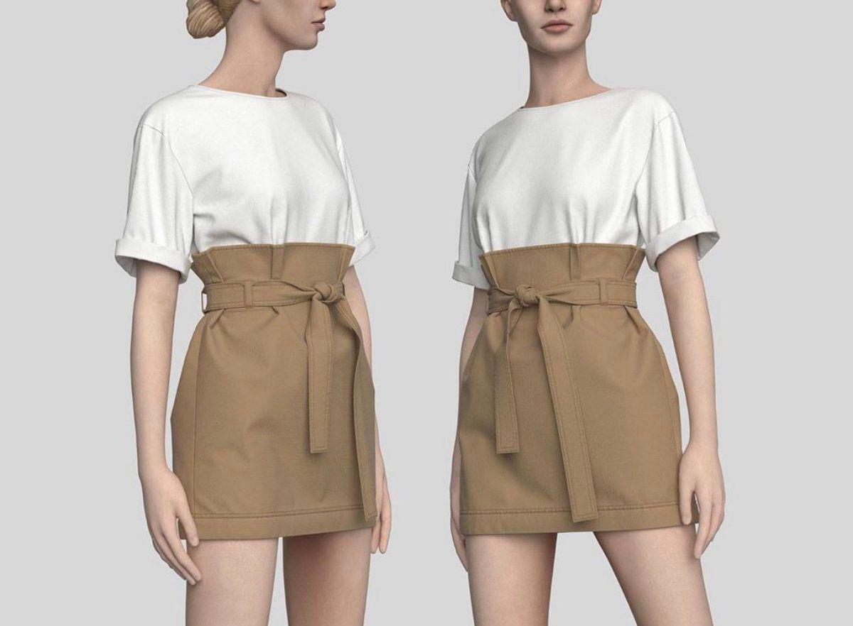 3D Virtual Garment Samples Made with CLO3D Fashion Design