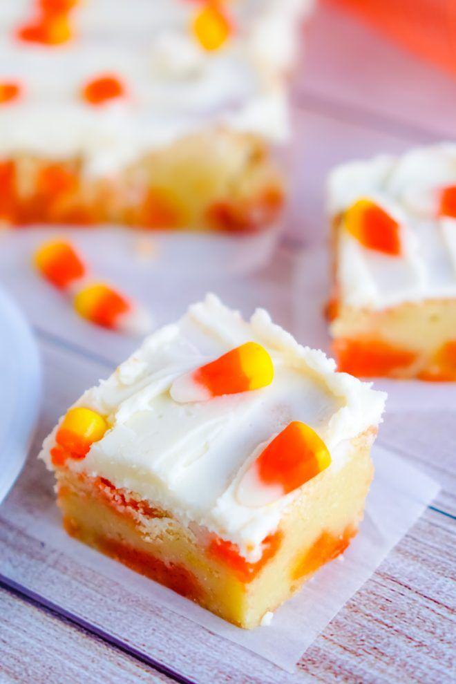 Candy Corn Cookie Bars - An Alli Event