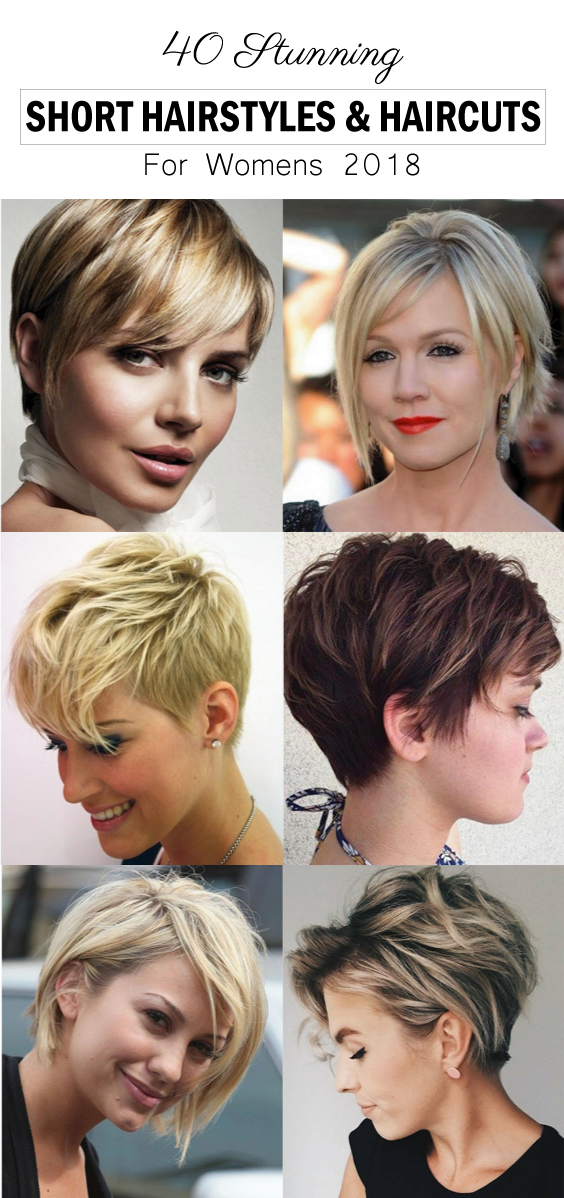 40 Stunning Short Hairstyles Haircuts For Women 2018 Short