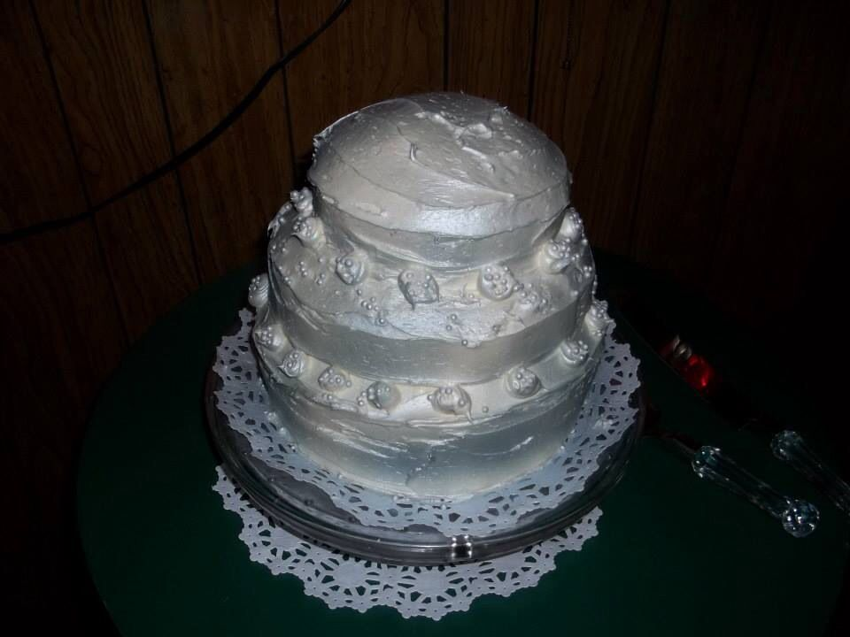 This is the cake my daughter made for us!  It was delicious .