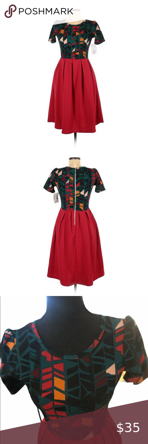 Nwt Lularoe Women S Holiday Colored Dress Xs Orange And Blue Dress Colorful Dresses Simple Black Dress [ 1740 x 580 Pixel ]