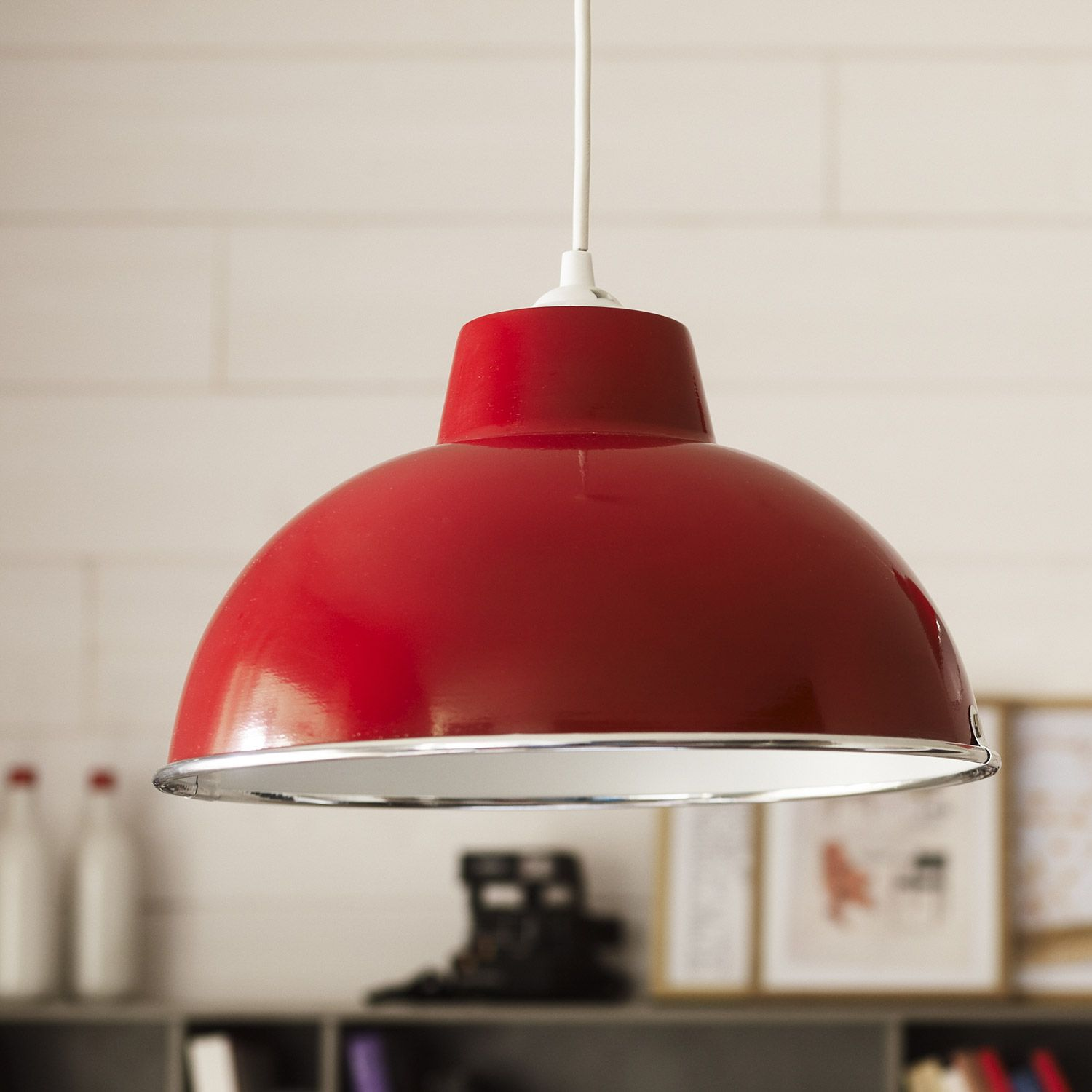 Mission to mars ceiling light kids ceiling lighting toronto by - Mati Re M Tal Couleur Rouge Type De Culot E27