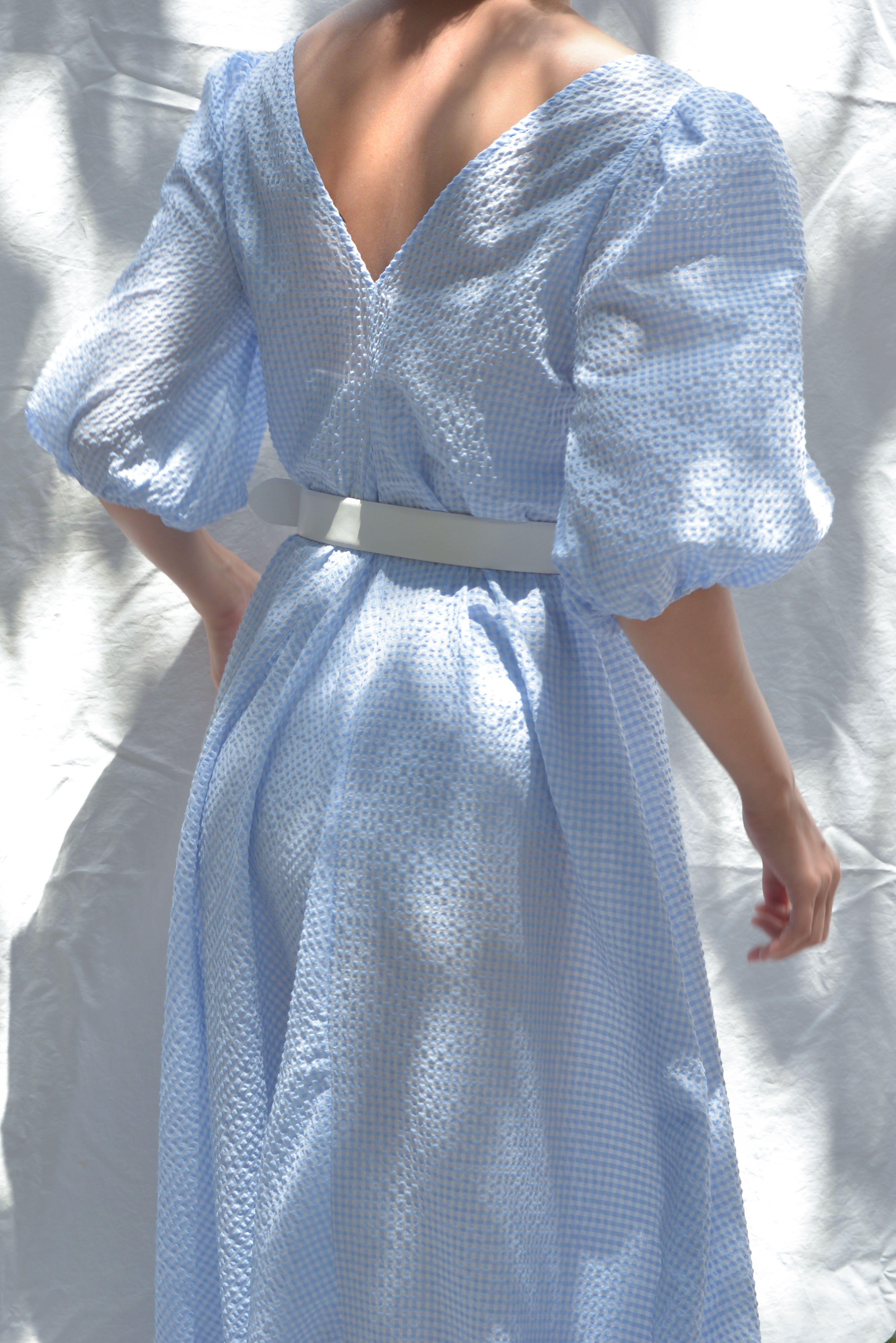 a1b0191f8b2 Ganni Charron Maxi Dress - Serenity Blue – pas mal