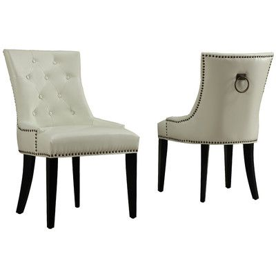 TOV Uptown Leather Side Chair U0026 Reviews | Wayfair