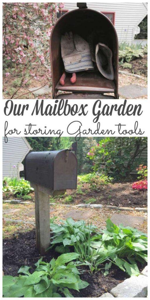 My Mailbox Garden for Storing Garden Tools - Lehman Lane #gardeningtools