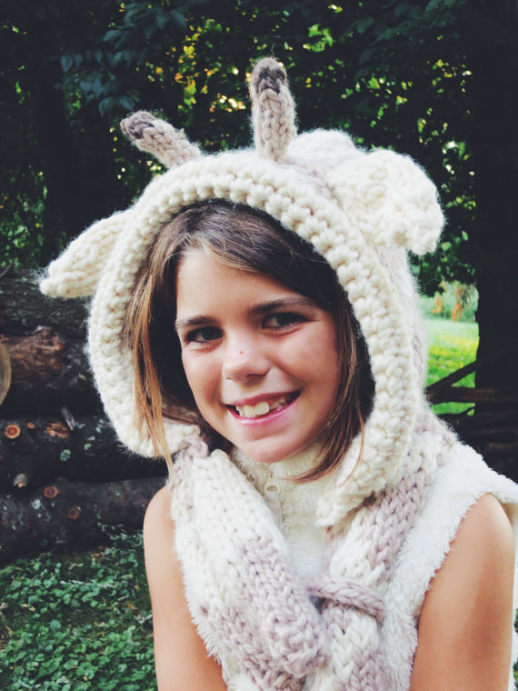 PATTERN for Giraffe Hat Hood Cowl Scarf Knit Toddler Child Adult ...
