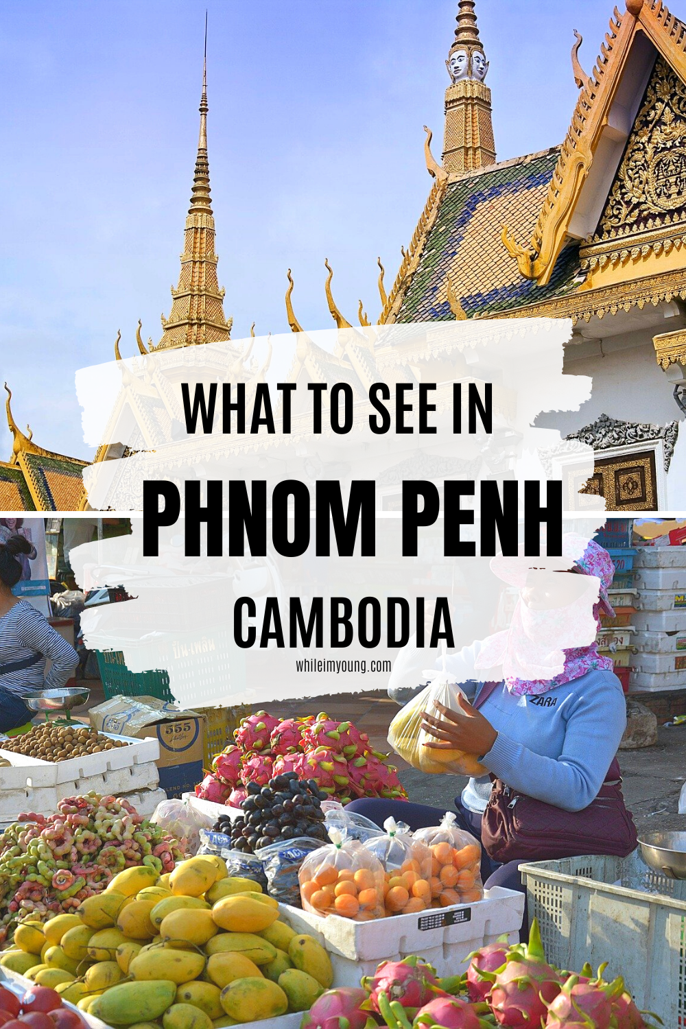 Click for a guide to what to do in Phnom Penh, Cambodia's metropolis. Get ideas for places to visit including the museums, Royal Palace and more hidden gems you can reach by river. You need to read this if you're planning to travel in Cambodia! The guide includes info about where to stay, how to get to Phnom Penh and some of the most popular tours and excursions. #PhnomPenh #Cambodia #travel #Photography #markets #river #views #ThingsToDoInPhnomPenh #food #bars #restaurant