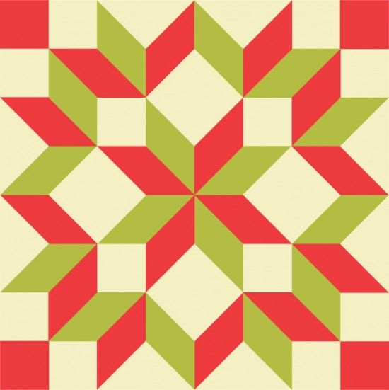 48 Carpenter Star Pattern For A Baby Quilt Or Christmas Tree Skirt