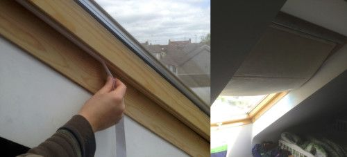 Easily Make Your Own Diy Roman Blinds For Your Velux Roof