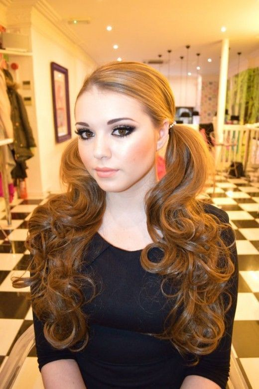 Curly Pigtail Hairstyles Pigtail Hairstyles Hair Styles Hairstyle