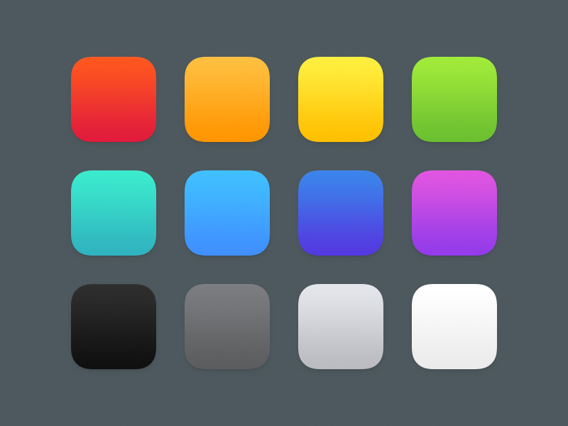 Colors Web design icon, Ios 7 design, Color