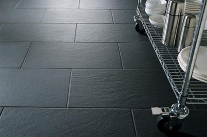 Fantastic Grey Slate Kitchen Floor