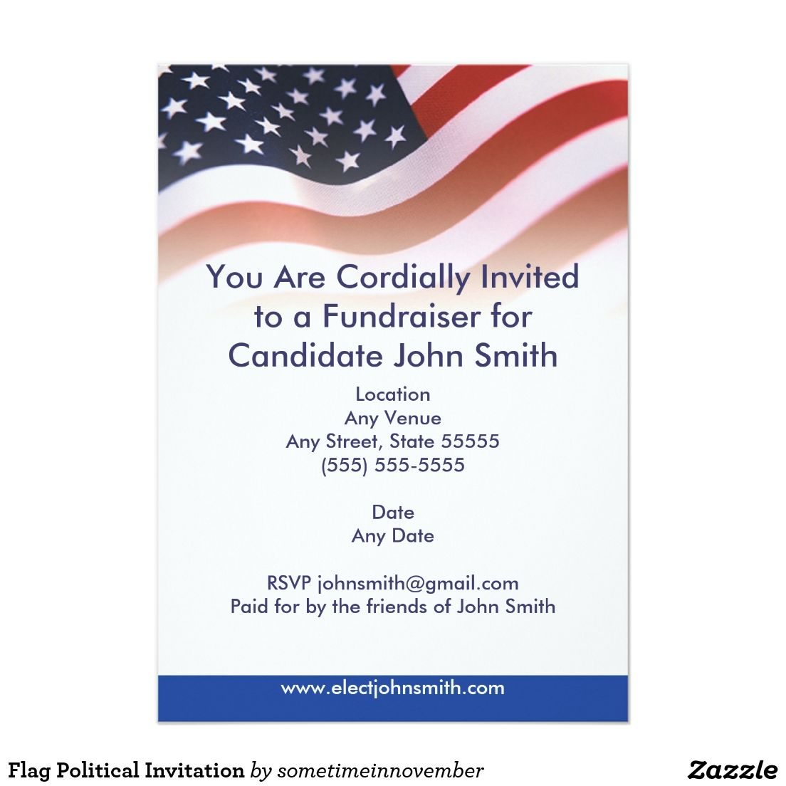 political fundraiser flyer