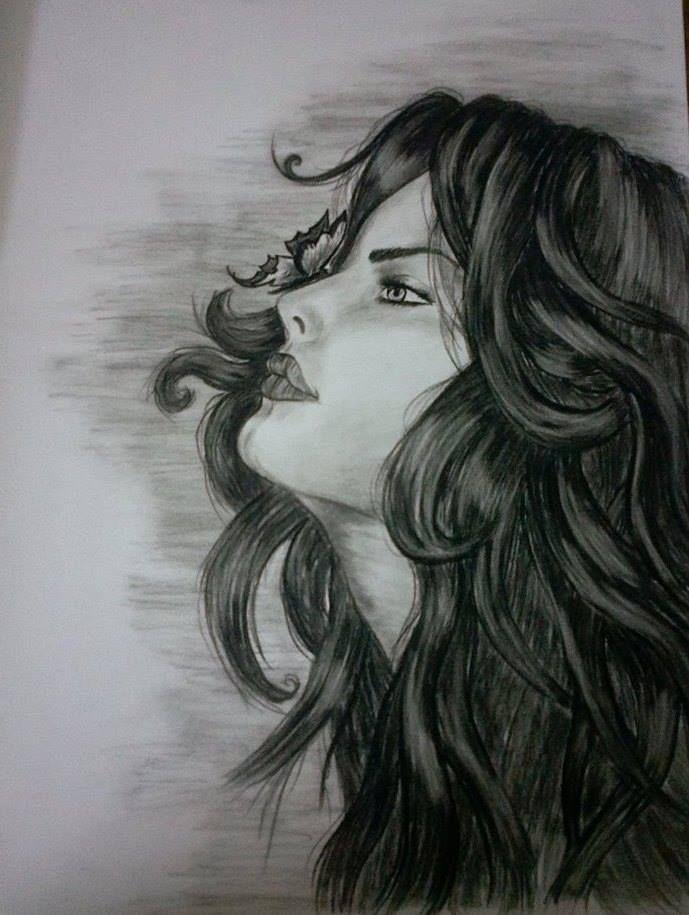 رسم المهندسة ايمان Female Sketch Art Female