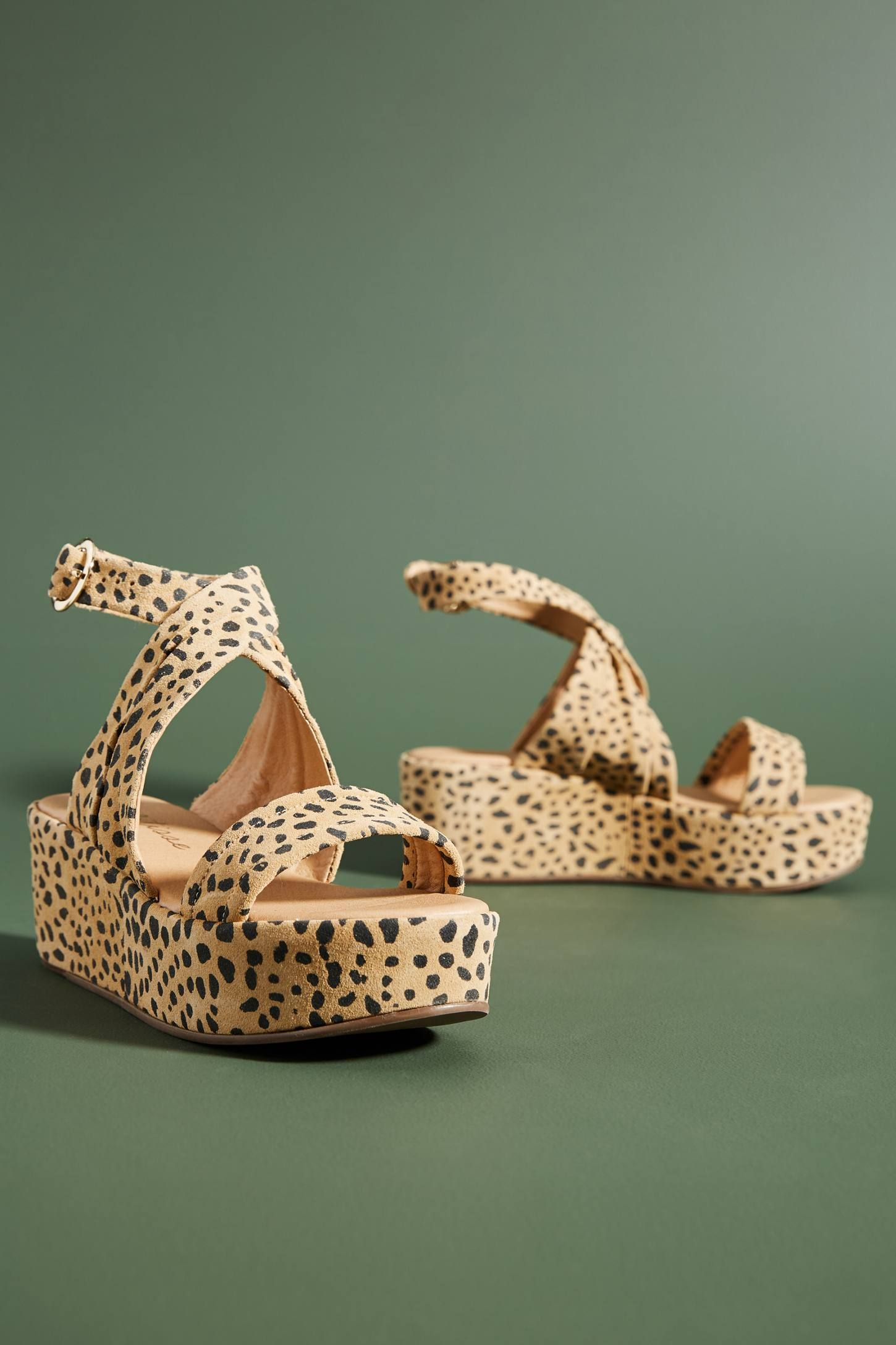 8ba08bb76c4 Matisse Leopard-Print Wedge Sandals in 2019 | Want (Clothes ...