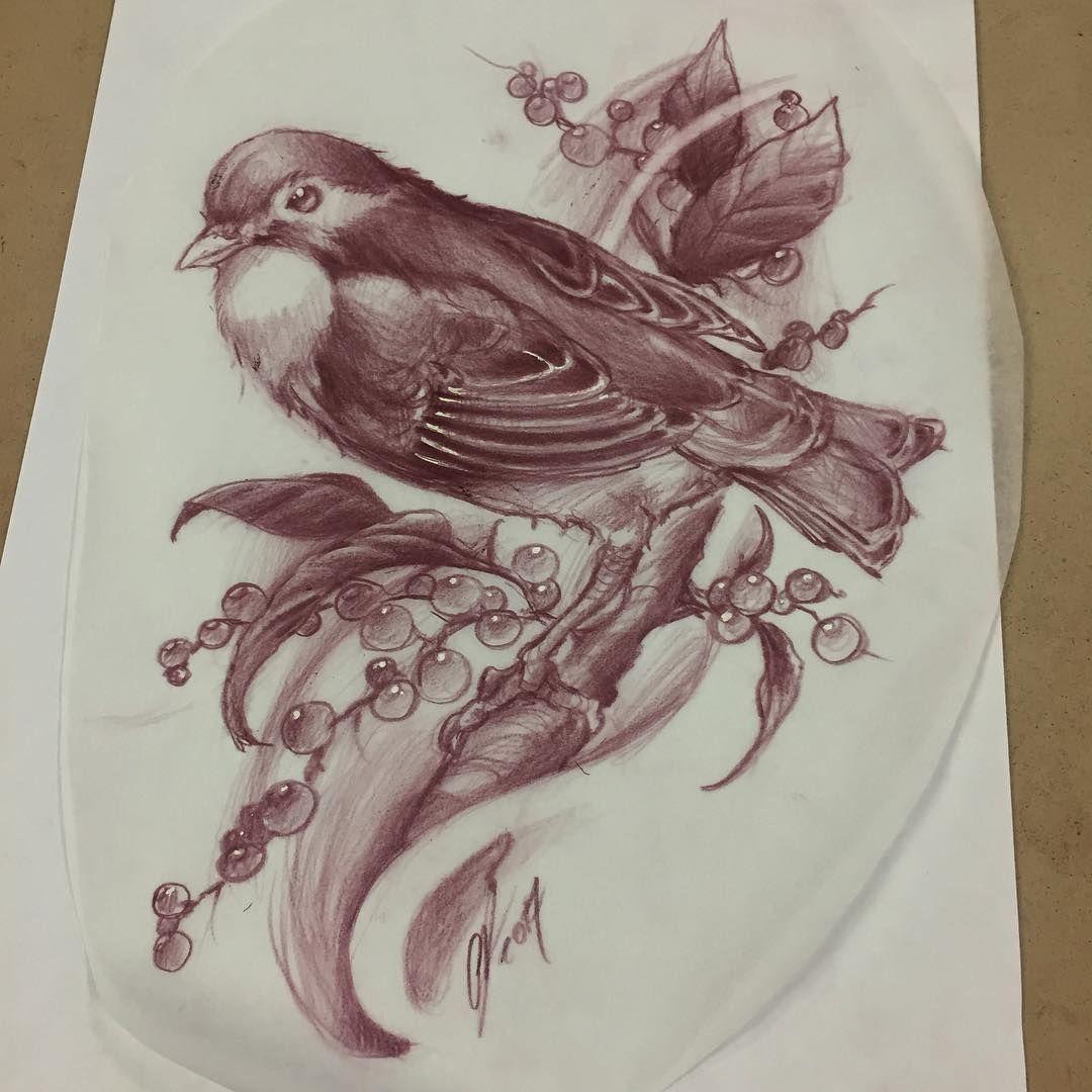 422 отметок «Нравится», 3 комментариев — Chris Dunn (@chrisdunntattoos) в Instagram: «Burung Robin up for grabs! Email or DM if interested. Chrisdunntattoos@gmail.com #upforgrabs…»