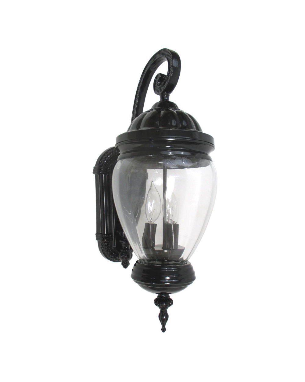 Epiphany Lighting 104973 Bk One Light Cast Aluminum Outdoor Exterior Wall Lantern In Black Finish