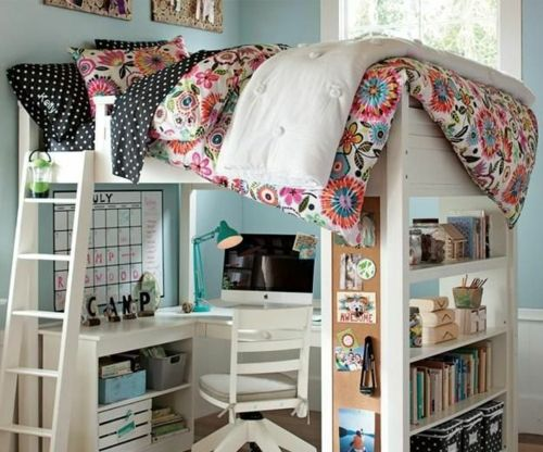 jugendzimmer einrichtungsideen die ihre kinder lieben werden hochbett. Black Bedroom Furniture Sets. Home Design Ideas
