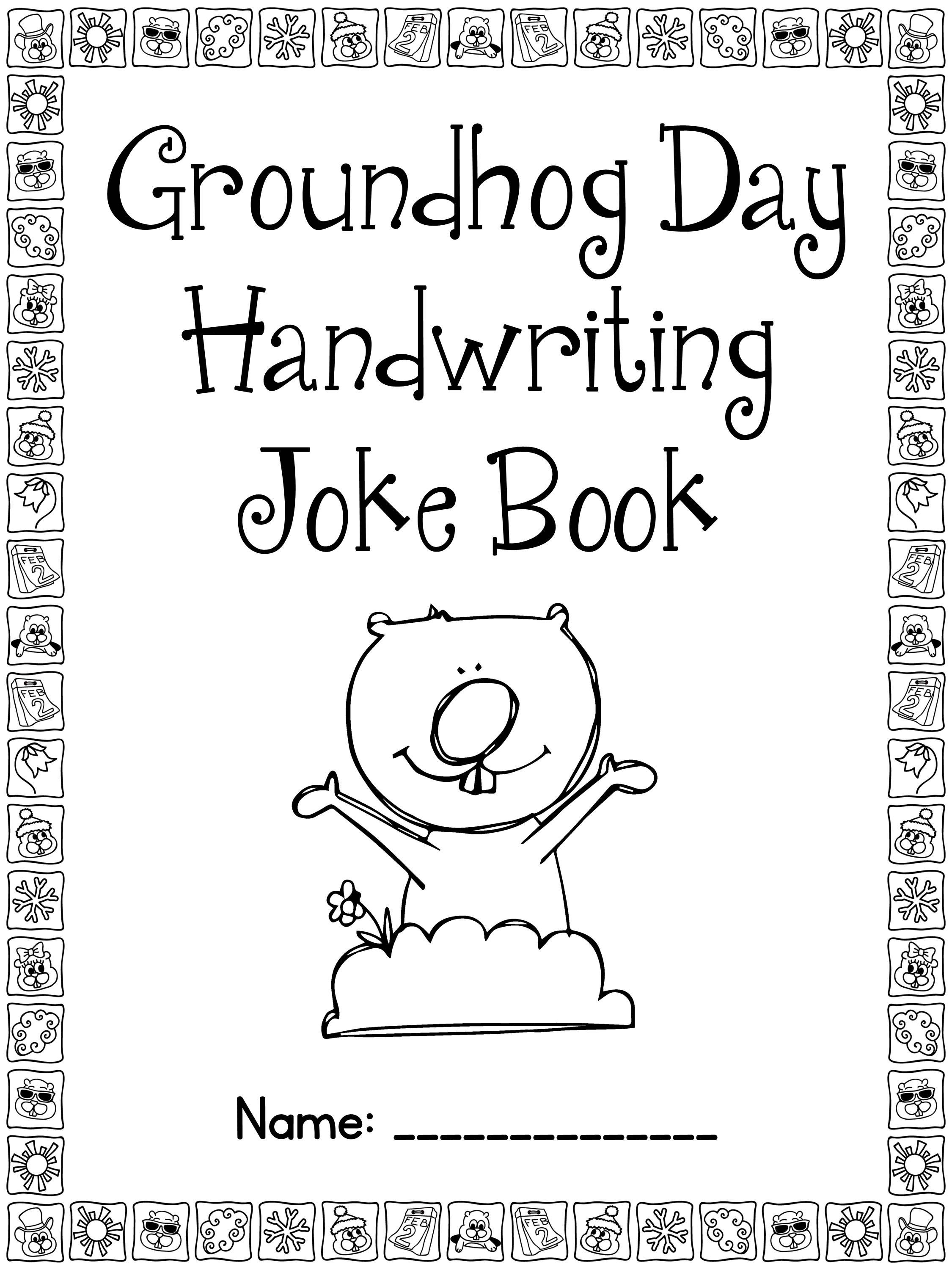 Freebie Groundhog Day Handwriting Practice In Cursive And