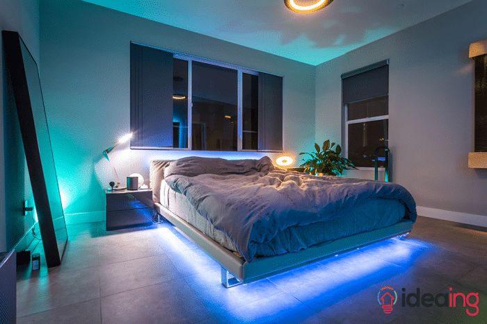 Philips Hue Lights Under Bed In 2019 Bedroom Lighting Bed Lights Strip Lighting
