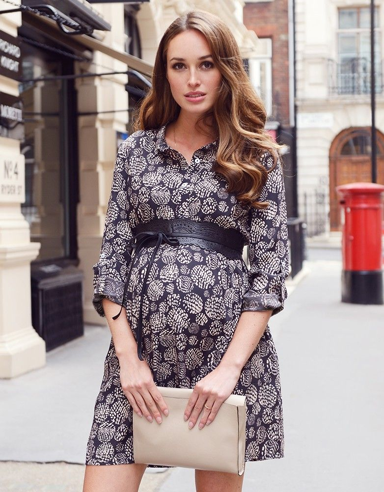 2830d003745251 《Maternity Style》 Printed Woven Maternity Shirt Dress | Seraphine for  Maternity Inspiration |Maternity Clothes