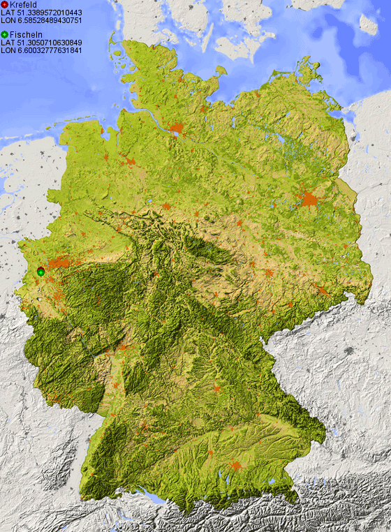 image result for topographic map of germany