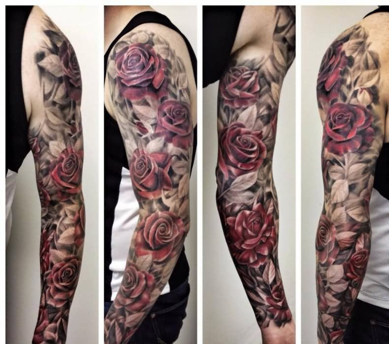 Awesome Floral Tattoo Design For Men Full Sleeve Tattoos Tattoos