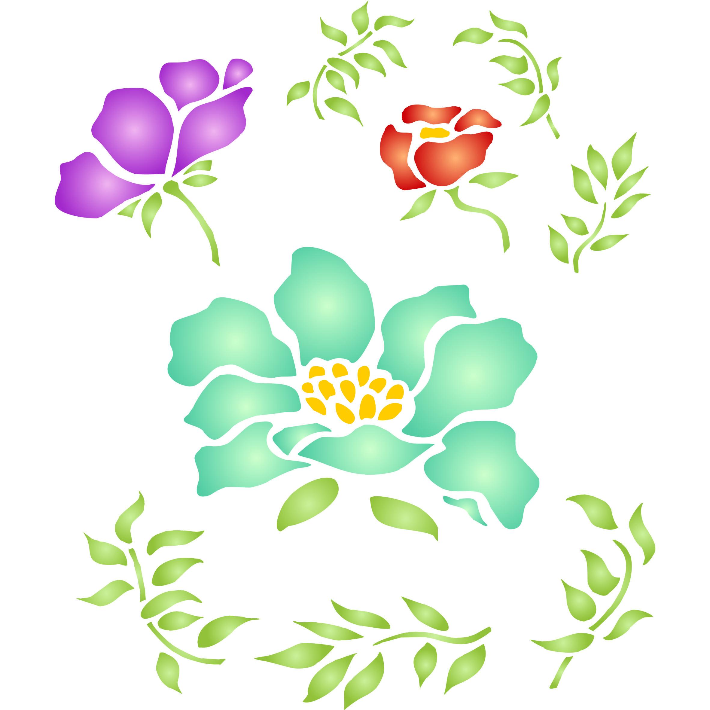 Flowers stencihttpamazondpb01fm0zrhsm flowers stencihttpamazondpb01fm0zrhs wall stencils amipublicfo Gallery