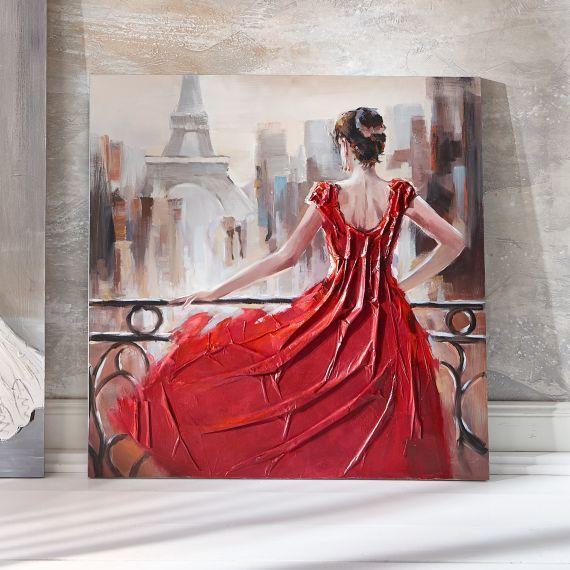 Bild Paris Handgemalt Acryl Auf Leinwand Ca 100 X 100cm