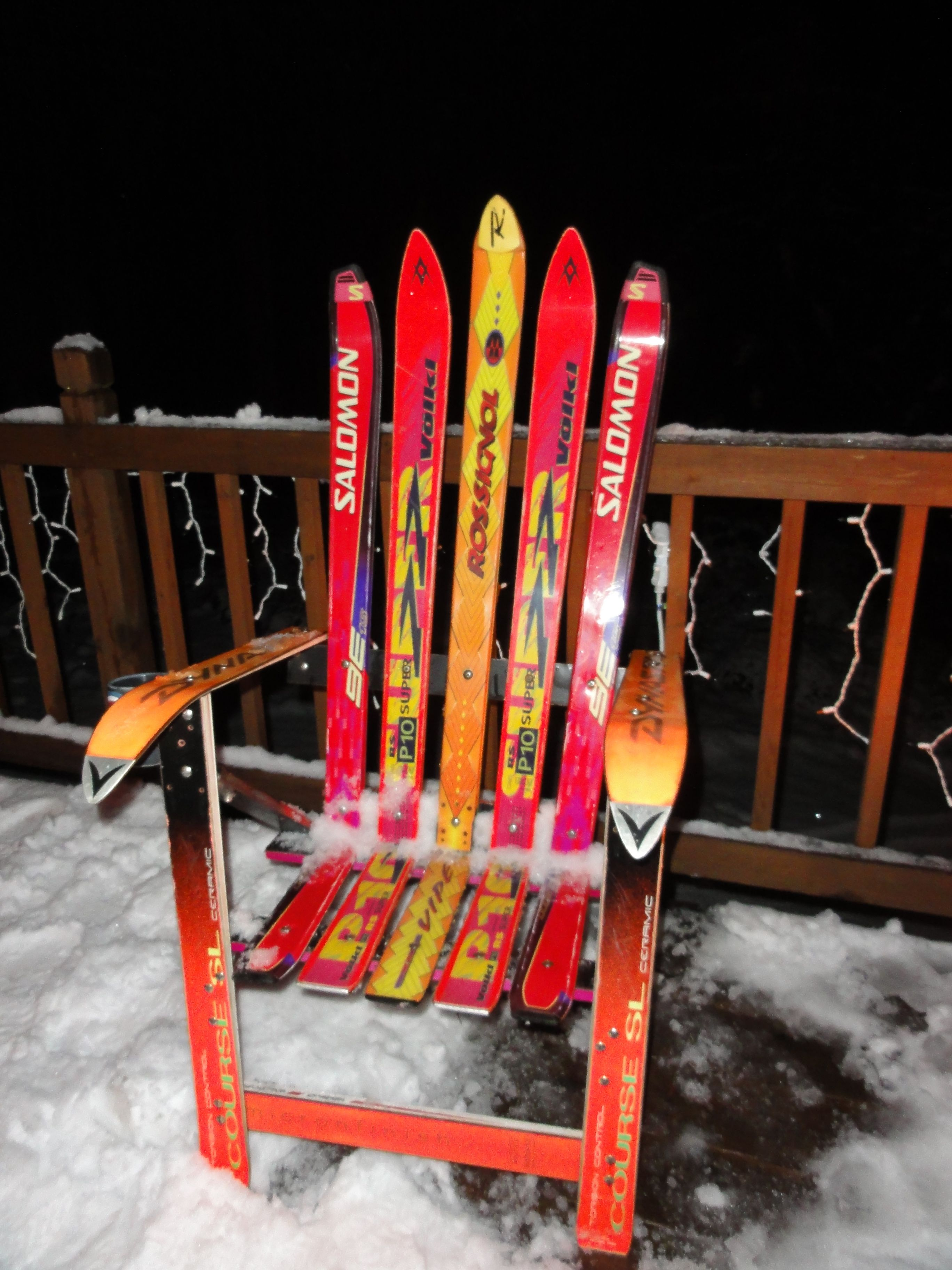 Ski Chair Pine chairs, Ski decor, Wooden swing chair