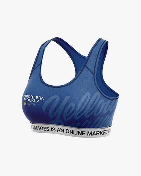 9c5df472992f8 Free Mockup Download Women s Sports Bra Mockup - Front Half Side View  Object Mockups PSD Template