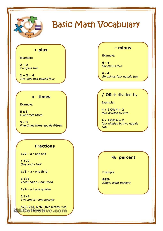hight resolution of Basic Math   Basic math