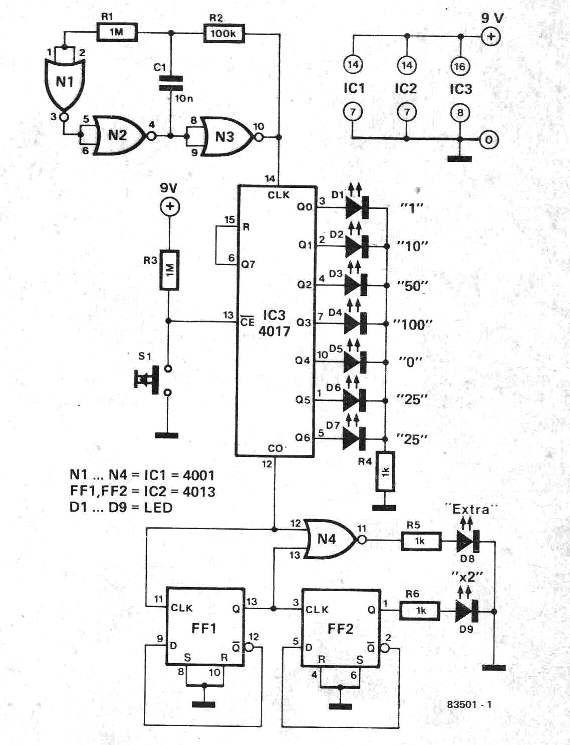 Wondrous Simple Electronic Pinball Game Circuit Electronic Diy Circuit Wiring Database Lotapmagn4X4Andersnl