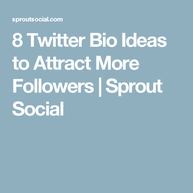 8 Twitter Bio Ideas to Attract More Followers | Twitter ...