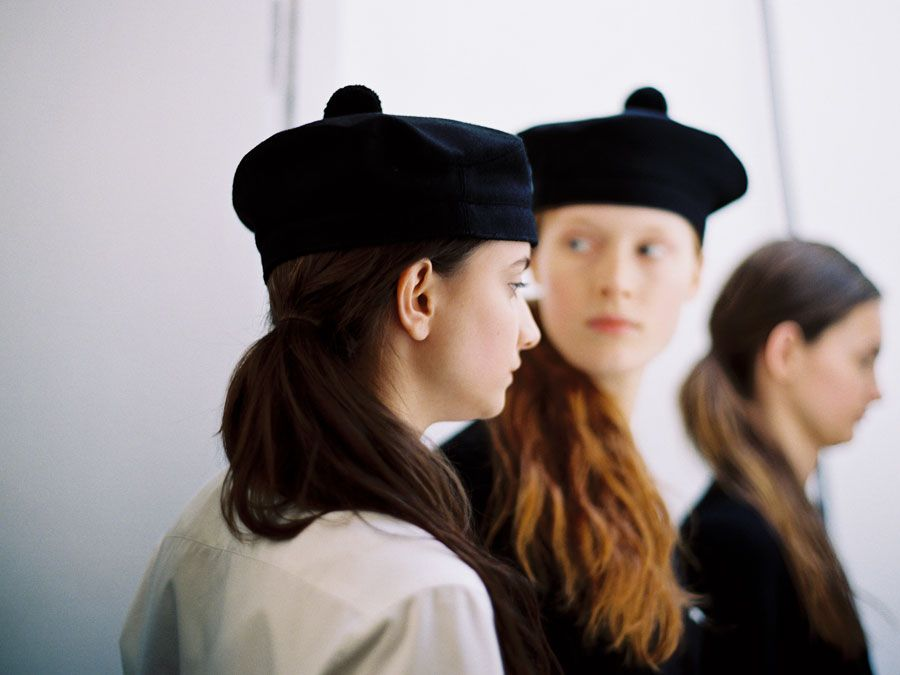 Vanessa Jackman: London Fashion Week AW 2012....Backstage at Margaret Howell