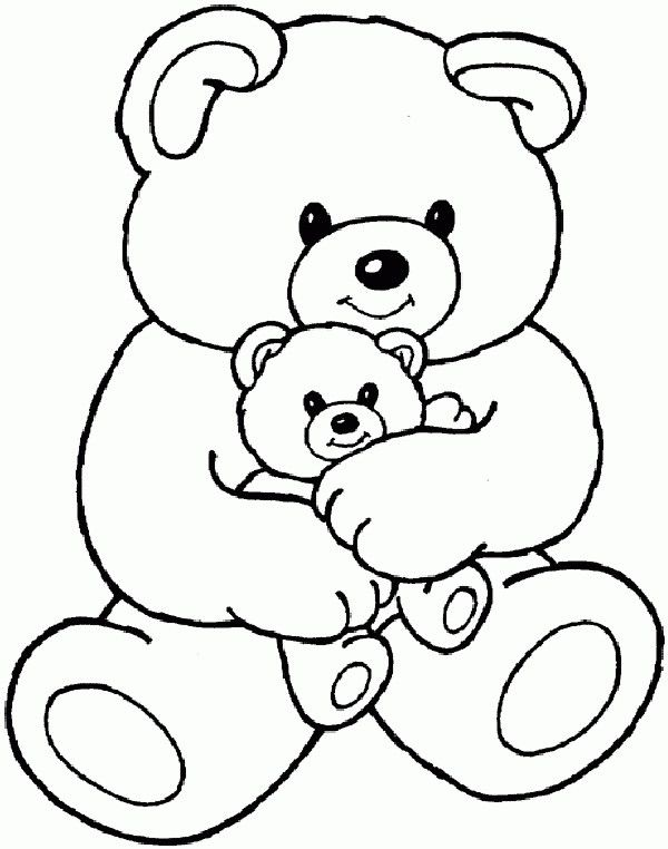 Cartoon Coloring Pages Pictures Teddy Bear Coloring
