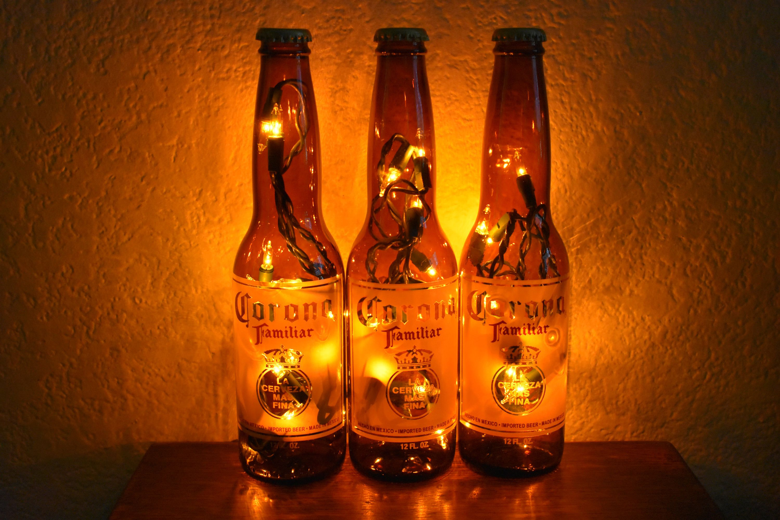 Check Out The Latest Addition To My Etsy Shop Corona Familiar Beer Bottle Light 3 Pack White Lights Bar L Beer Bottle Lights Bottle Lights Old Wine Bottles